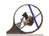 2004 - Finestra d'ànima - iron recycling and wood (35x45x12)