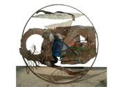 2004 - Ull blau de la deesa - ferro i altres materials (128x125)