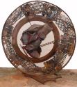 2004 - On hi hagi una illa - madera y hierro (134x128x7)
